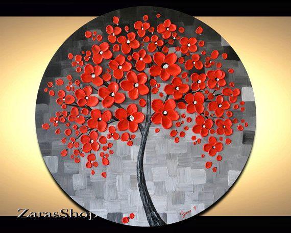 Best 25 red cherry blossom ideas on pinterest for Cherry blossom mural works
