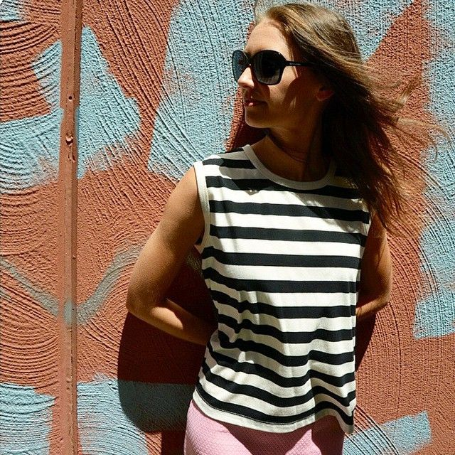 the essential singlet > via @thefrowboutique > in store now  #isla #summer #stripes