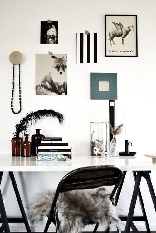desk space inspo wall.