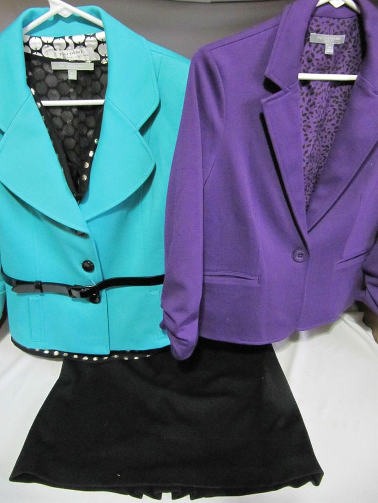 LOT OF 5 (Petite Small): TEAL TAHARI A.LEVINE BELTED JACKET, PURPLE JACKET, SKIRT, BLOUSE, TANK #Assorted #SkirtSuit Someone get this! Only $25!!!!