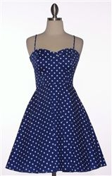 $39 Easter Dresses for Women 2013! Vintage BLUE POLKA DOT Easter Dresses for juniors, misses and plus size women!
