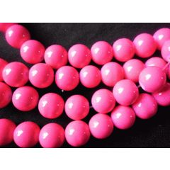 Electric Pink Opaque Glass Rounds  ,10mm - Per String of  /- 85. for R15.30