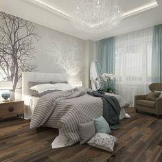 * Decoração e Invenção *: Quartos de Casal com parede cinza...Lindos