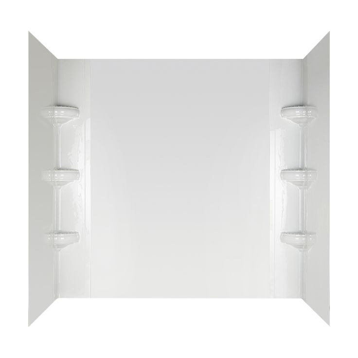 peerless avondale high gloss white highimpact polystyrene bathtub wall surround common 32 - Bathtubs At Lowes