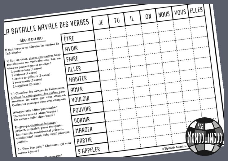 Un jeu facile et amusant pour réviser la conjugaison !