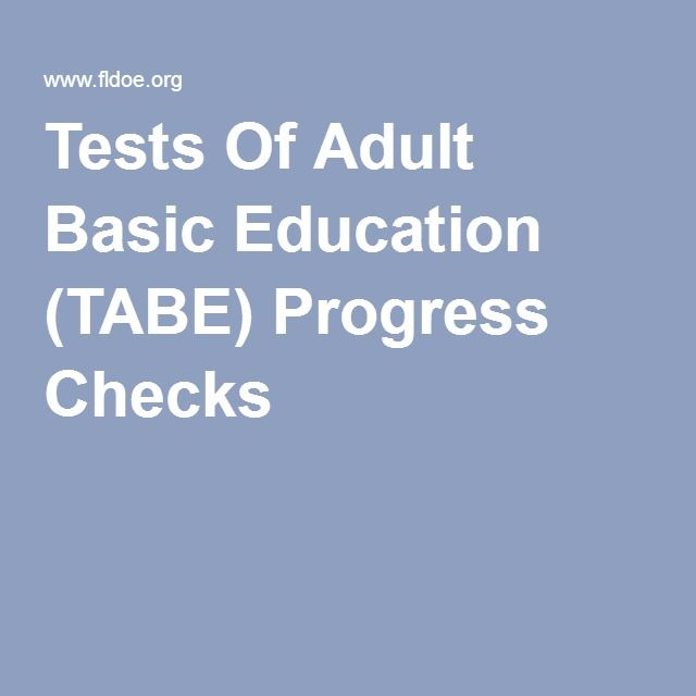 Opinion tests of adult basic education