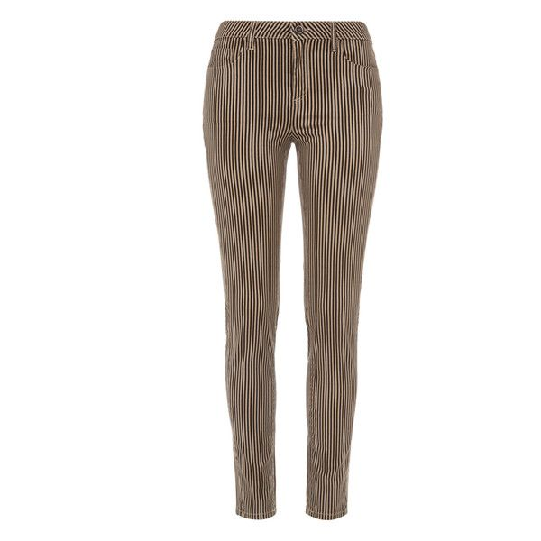 Saltspin - Triplite Stone Printed Skinny Jeans ($225) ❤ liked on Polyvore featuring jeans, pants, striped skinny jeans, super stretch skinny jeans, patterned jeans, stretch skinny jeans and denim skinny jeans