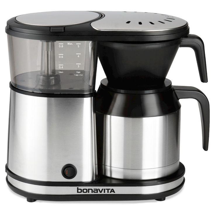 Bonavita 5 Cup Coffee Maker, Silver