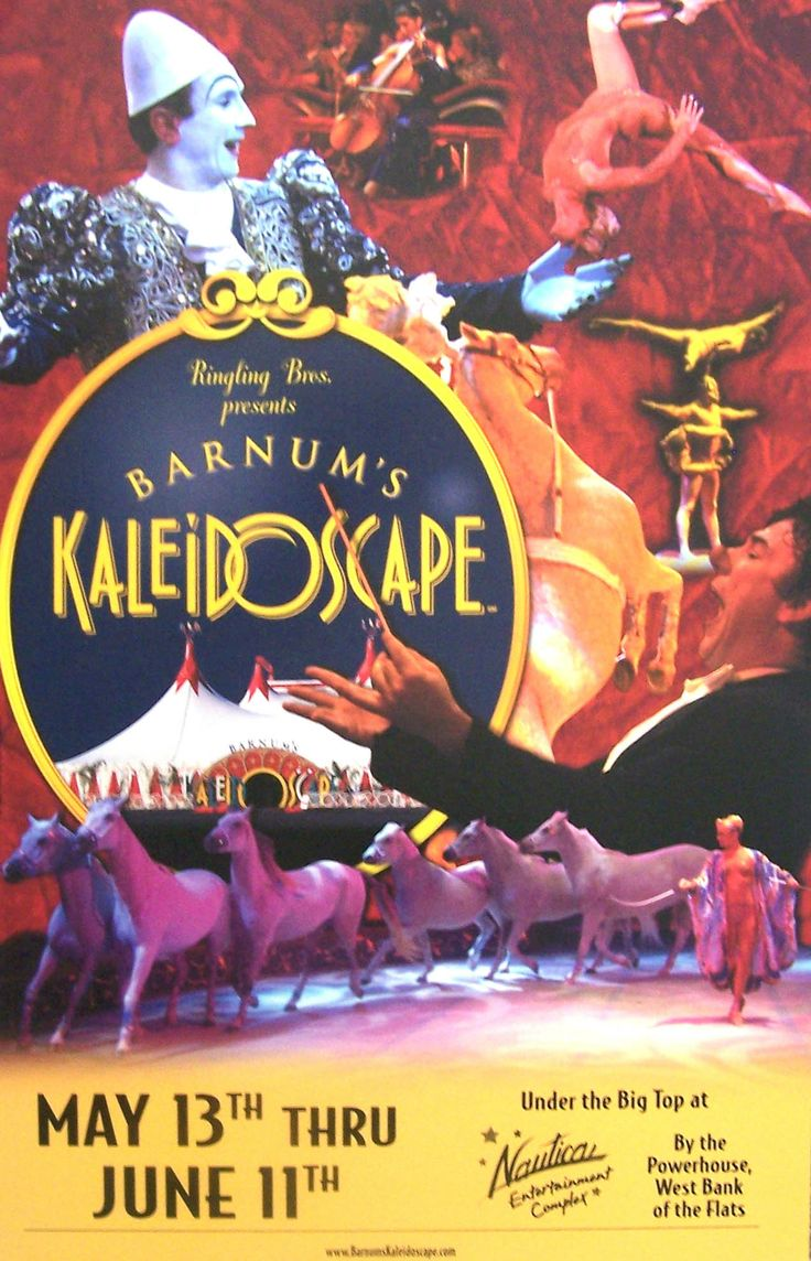 Barnum's Kaledioscape existed in the US from 1998 to 2000 as a one ring tented circus.