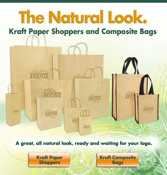 Give your packaging an all natural look! Paper Shoppers: http://goo.gl/KwaIuC Kraft Composite Bag: http://goo.gl/HbSe3d (Yes, that's a reusable paper bag!)