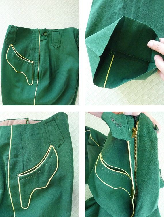 Nathan Turk vintage 40s 50s vrouw kelly green westerse pistool
