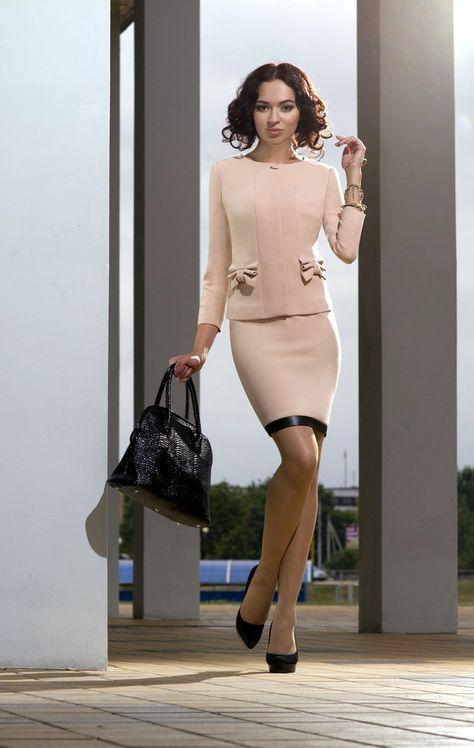 Blush Bow Skirt Suit