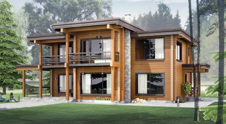 Стоимость строительства домов из клееного бруса под ключ