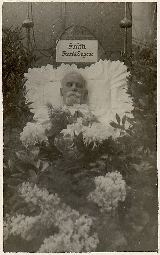 Post Mortem of Frank Eugene in His Coffin