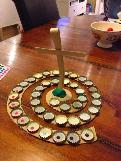 40 days of Lent, with beer caps