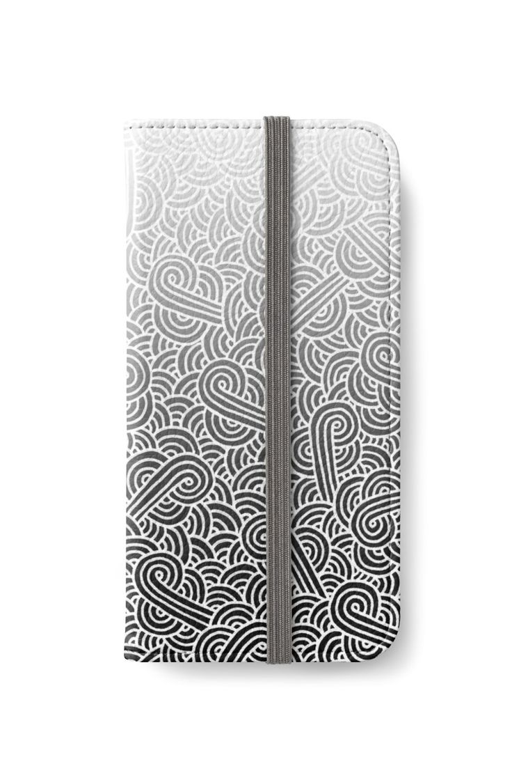 Ombre black and white swirls doodles iPhone Wallet by @savousepate on @redbubble #iphonewallet #phonewallet #zentangle #doodles #abstract #modern #graphic #geometric #ombre #gradient #grey #gray #black #blackandwhite