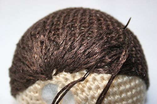 Amigurumi short hair tutorial-could be useful. Will pin for future reference :)