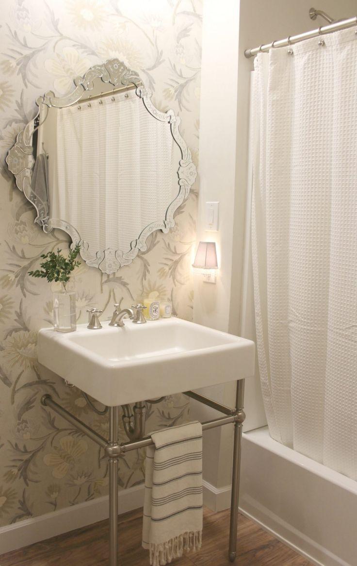 Beautiful bathroom design with classic elegant spa like