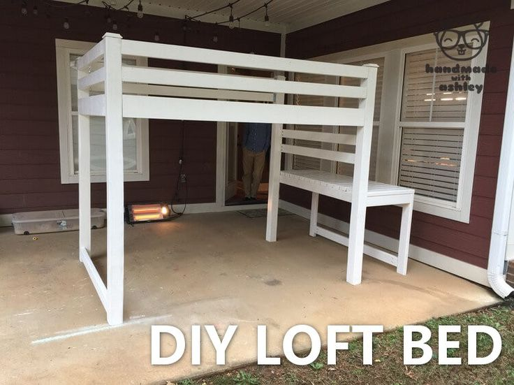 how to build a loft bed with storage