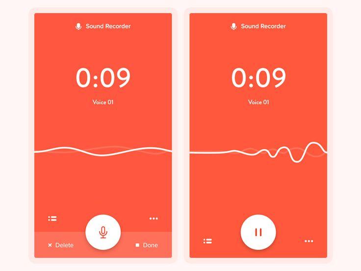 #ui #mobile Sound Recorder App