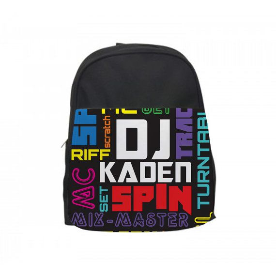 Cool Backpack for school, Custom Kids Backpack, Personalized Toddler Backpack, Custom Toddler Backpack ►HOW TO PERSONALIZE YOUR CUSTOM DJ