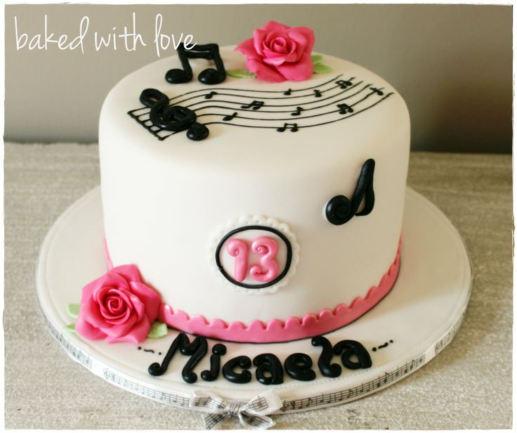 Music theme cake for a girl https://www.facebook.com/pages/Baked-with-Love/115563808503000