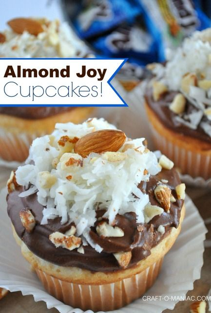 Almond Joy Cupcakes! #cupcakes #cupcakerecipes #almondjoys
