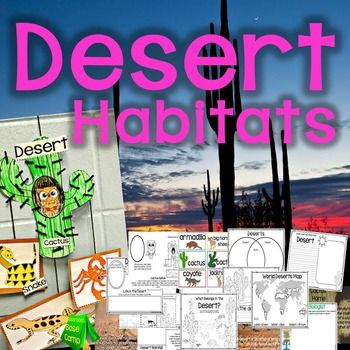 This desert habitat unit is designed for your young wildlife biologists to learn about the animals and plants that live in the desert biome. It has introductory slides to teach students some background information and simple facts about the desert habitat. Students will complete activity pages about the desert habitat and will complete an adorable desert craft.
