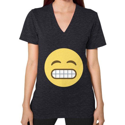 Grinning Emoji V-Neck for Women