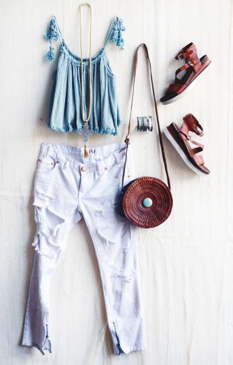 ☮ American Hippie Bohéme ☮  Boho Outfits ☮