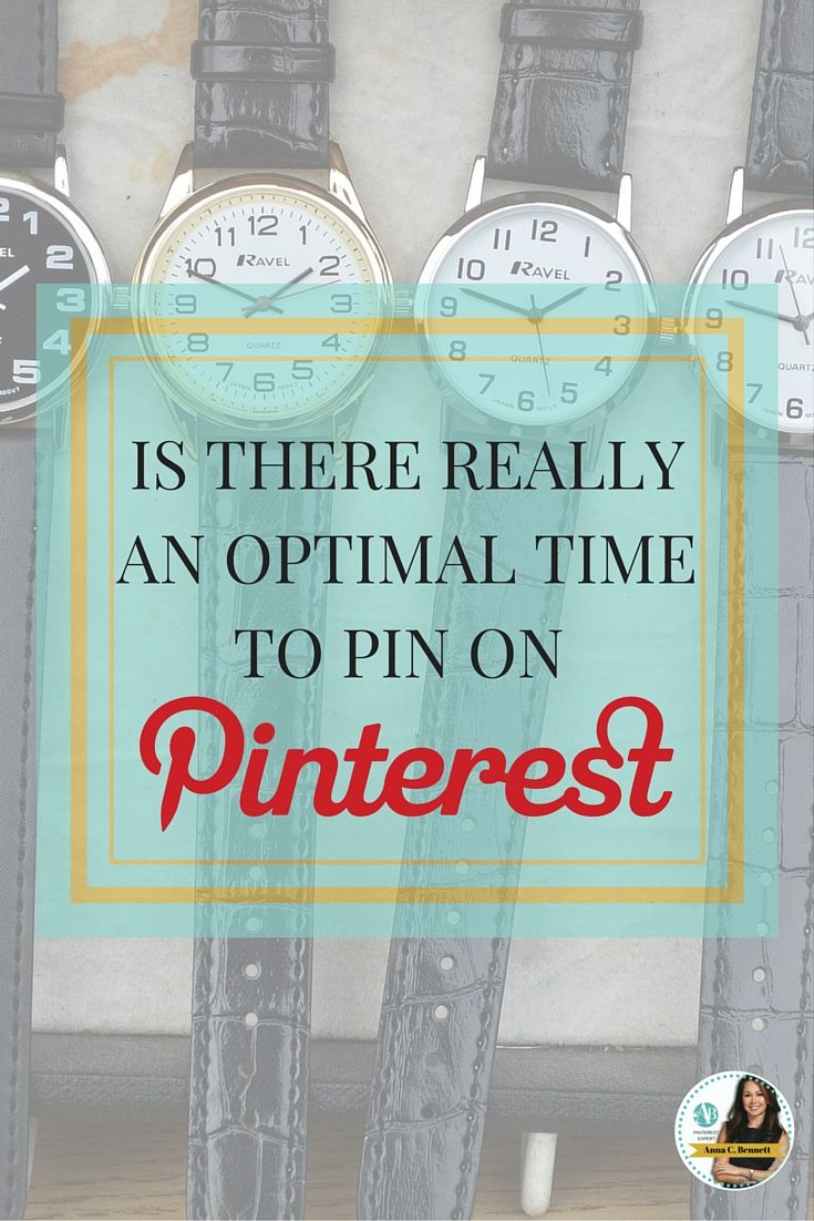 Pinterest claims that these categories receive the most engagement on these days of the week: Pin fitness on Mondays, inspirational quotes on Wednesdays. From my experience if you don�t have a lot of original images to pin then pin your images in the evening. Learn more at http://www.whiteglovesocialmedia.com/how-to-pick-the-best-days-times-to-pin-on-pinterest/   Pinterest for business tip by Pinterest Marketing Expert Anna Bennett