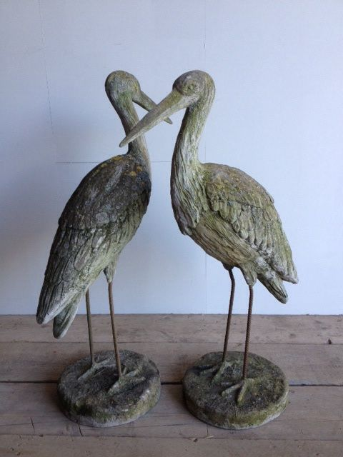 Pair of birds just arrived at Anton & K decorative antiques Gloucestershire