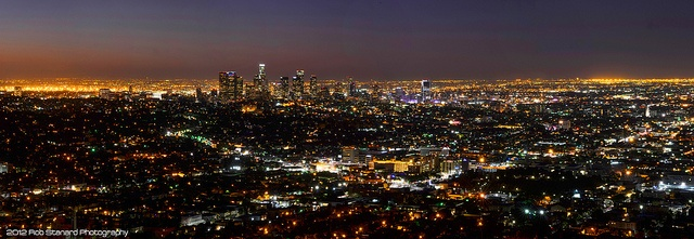 Los Angeles Panorama Before Sunrise by Rob Stanard Photography, via Flickr