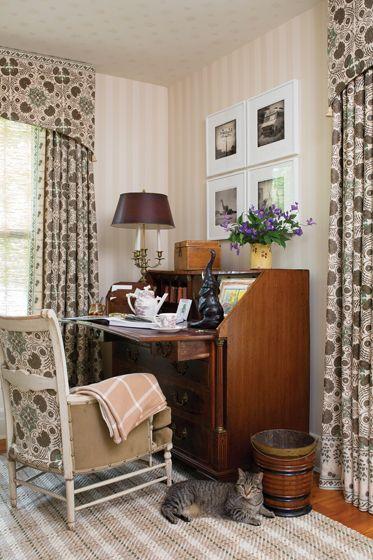 An 18th century burl veneer slant top desk occupies a corner of the   Design  MagazineFine Furniture18th CenturyHome. 845 best Beautiful Interiors images on Pinterest   Design magazine