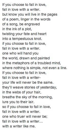 Unknown Author Love Poem A Writers Confession
