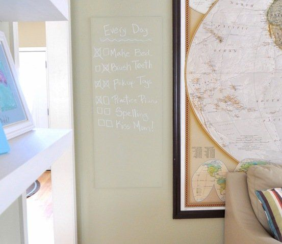 How to make custom colored chalkboard paint-lime or tangerine for the door panels in Cooper's room