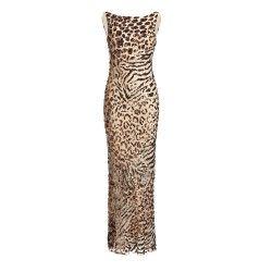 Paillettenkleid in Leo-Optik. Kleid mieten bei dresscoded.com.#dresscoded