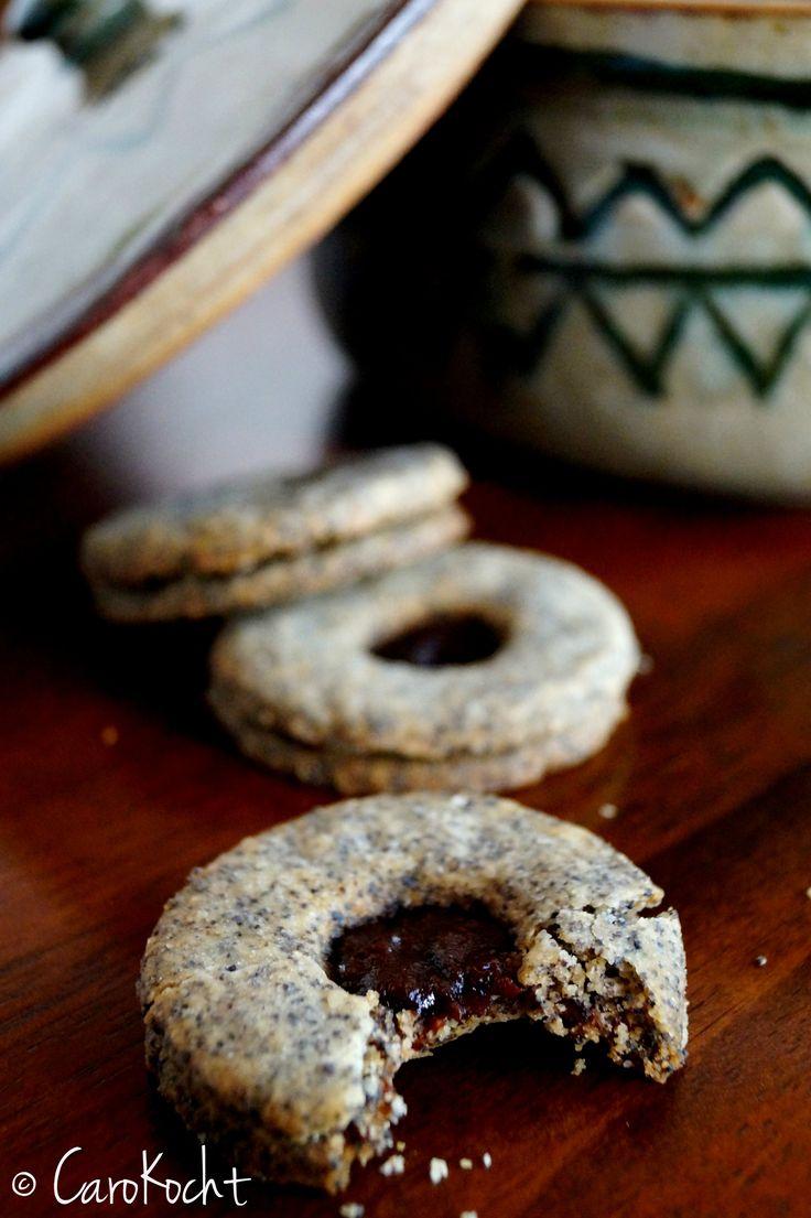 Poppyseed plum jam cookies // Mohn-Pflaumenmus-Plätzchen