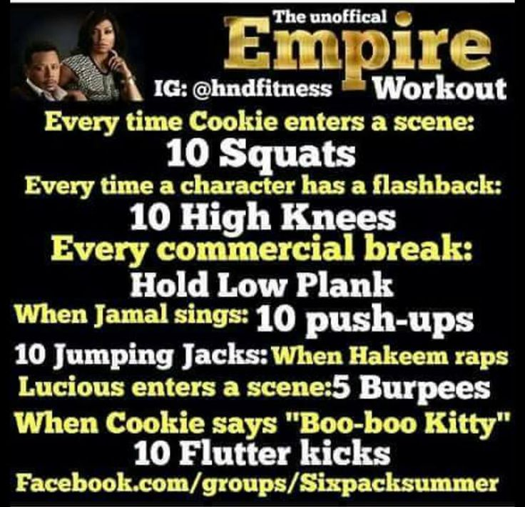 Empire TV show Workout