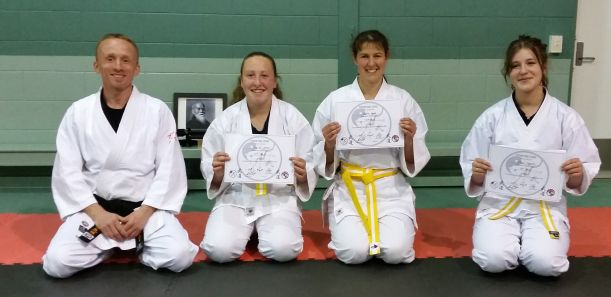 Successful 10th kyu Grading in the Adult class - seiza