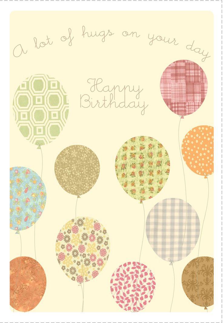10 best Happy Birthday Printables images on Pinterest Happy - free birthday card printable templates