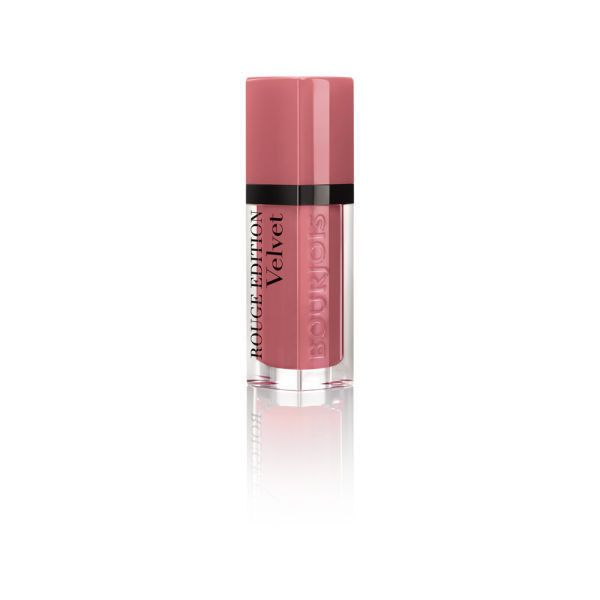 Bourjois Rouge Velvet Happy Nude Year (7.7ml) ($13) ❤ liked on Polyvore featuring beauty products, makeup, lip makeup, lipstick, bourjois and bourjois lipstick