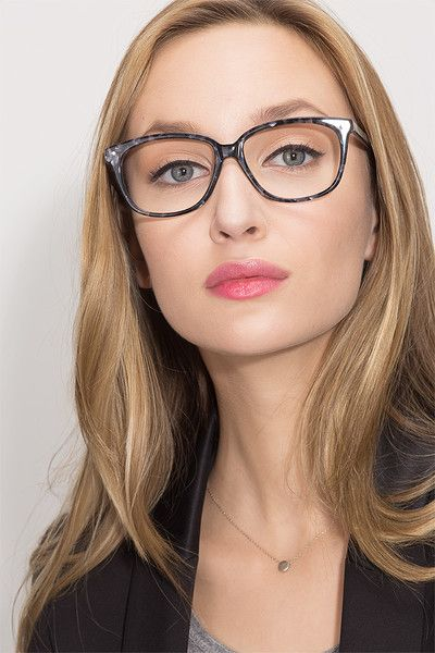Escapee S Gray Floral Acetate Eyeglasses From Eyebuydirect