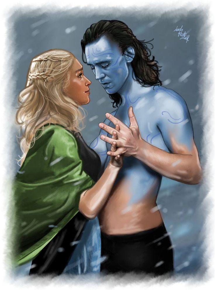 Loki and Sigyn - jotunheim by LadyMintLeaf