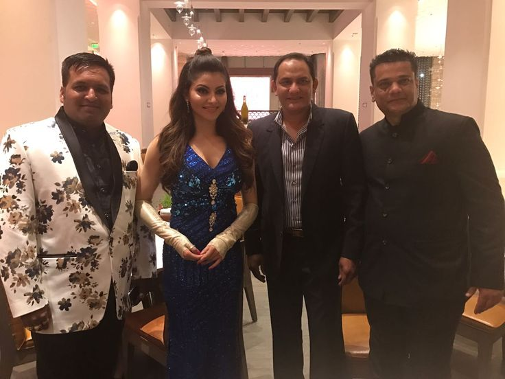 Times of India Sports Awards (TOISA) 2017, the  former Indian Cricket Captain and Politician, Mohammad Azharuddin, CEO Zahir Rana  and actress Urvashi Rautela announcing the launch of True Sports channel.