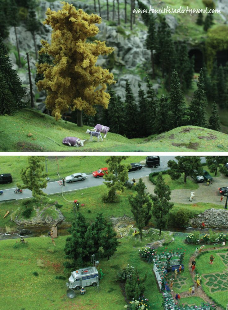 The Purple Milka Cows and Aliens: Stories within Scenes within Cities within Countries at the Miniatur Wunderland, Hamburg