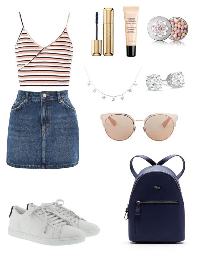 Outfit by lilyhastings98 on Polyvore featuring polyvore, fashion, style, Topshop, Yves Saint Laurent, Lacoste, Christian Dior, Guerlain and clothing