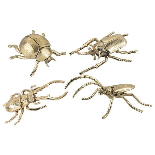 These Electroplated Decorative Silver And Gold Insects Are Great Tabletop Accessories To Add A Little Eclectic Glam To A Room Setting. The Expertly Sculpted Solid Cast Metal Piece Has Life Like Details And Texture. This Pieces Sit Well By Themselves Or As A Group.