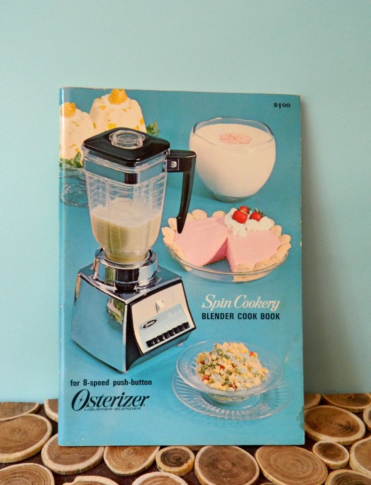 Osterizer Blender Cooking Booklets/Leaflets - Spin Cookery Blender Cookbook - Atomic Midcentury Modern Vintage Cookbooks by 20thCKitchenAndTable on Etsy