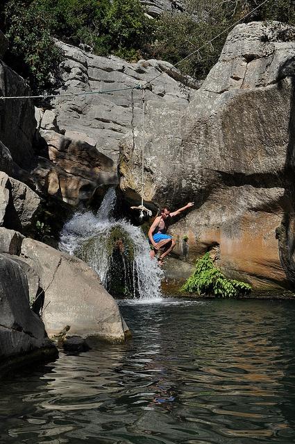 Waterfall near Manilva (Spain)